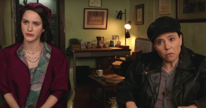 Marvelous Mrs Maisel blog Leslie D Davis writer ask man for help Midge and Susie